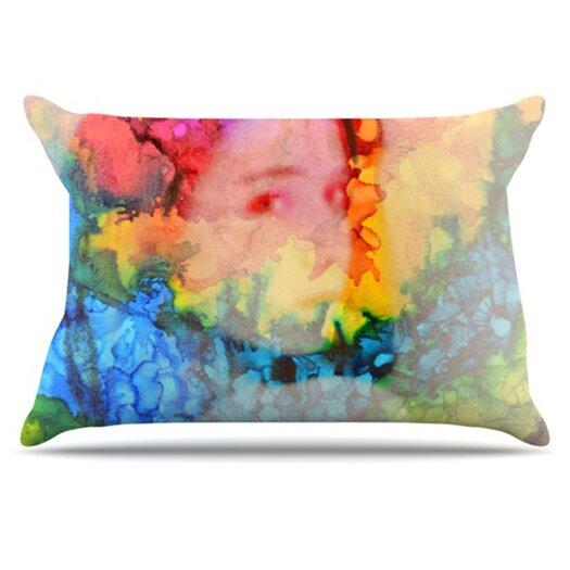 KESS InHouse Rainbow Splatter Pillowcase