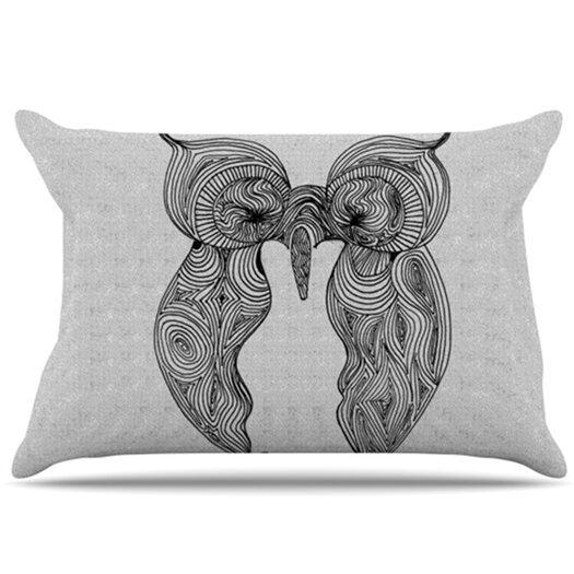 KESS InHouse Owl Pillowcase