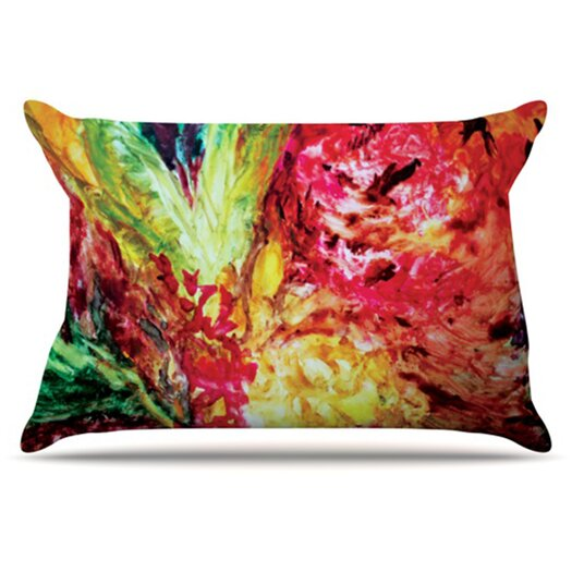 KESS InHouse Passion Flowers I Pillowcase