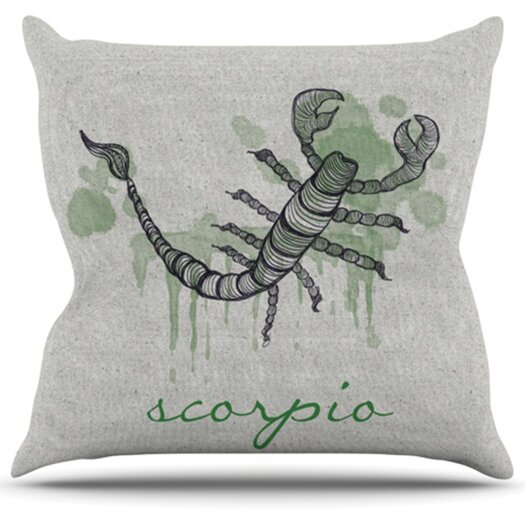 KESS InHouse Scorpio Throw Pillow