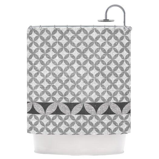 KESS InHouse Diamond Black Shower Curtain