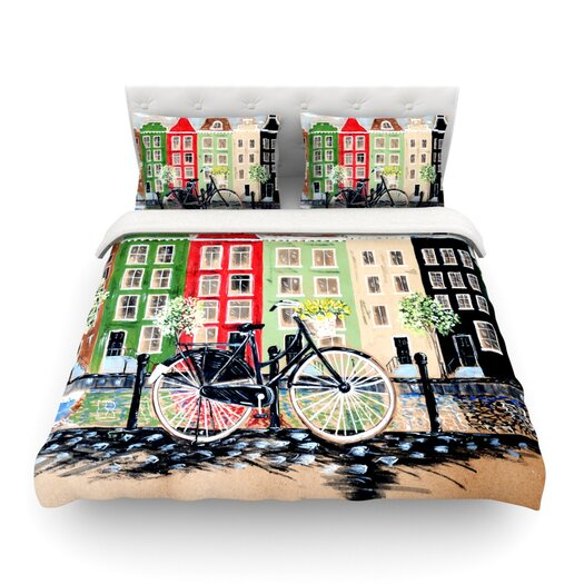 KESS InHouse Bicycle by Christen Treat Light Duvet Cover