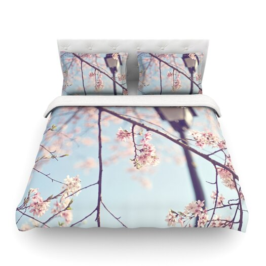 KESS InHouse Walk with Me Light by Catherine McDonald Duvet Cover