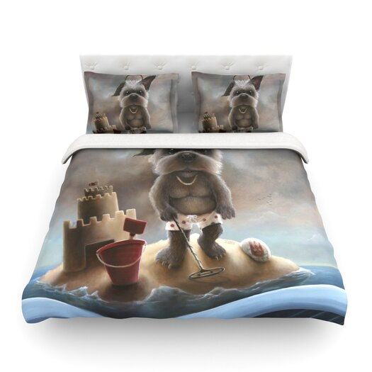KESS InHouse Grover by Graham Curran Light Duvet Cover