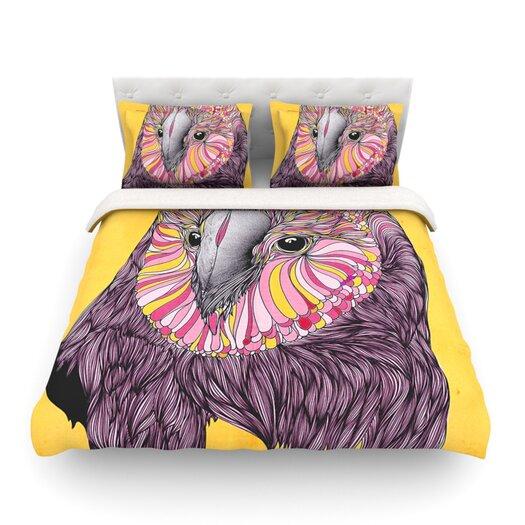 KESS InHouse Lovely Owl by Danny Ivan Light Duvet Cover