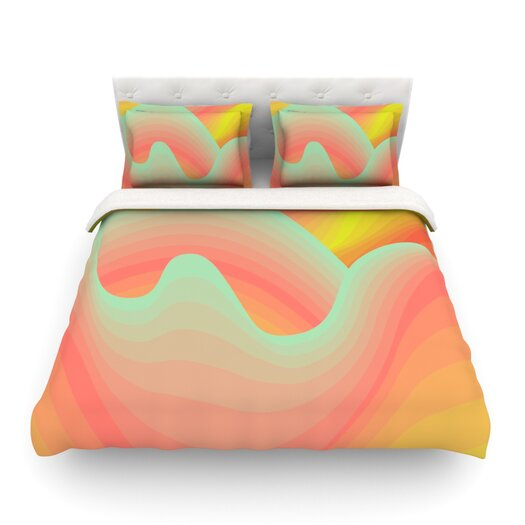 KESS InHouse Way of the Waves by Akwaflorell Light Duvet Cover