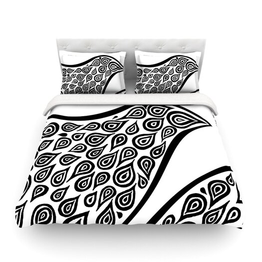 KESS InHouse Bird in Disguise White by Pom Graphic Design Featherweight Duvet Cover