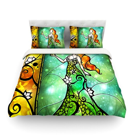 KESS InHouse Fairy Tale Frog Prince by Mandie Manzano Light Duvet Cover