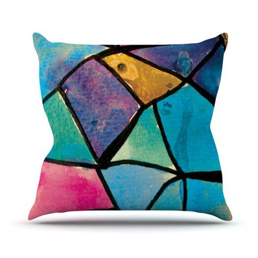 KESS InHouse Stain Glass 2 Throw Pillow
