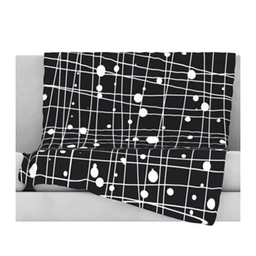 KESS InHouse Woven Web Mono Throw Blanket