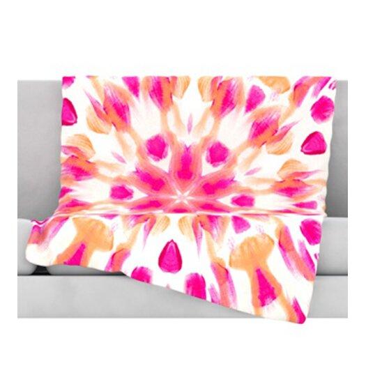 KESS InHouse Batik Mandala Throw Blanket