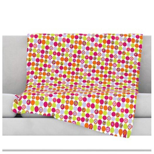 KESS InHouse Happy Circles Throw Blanket