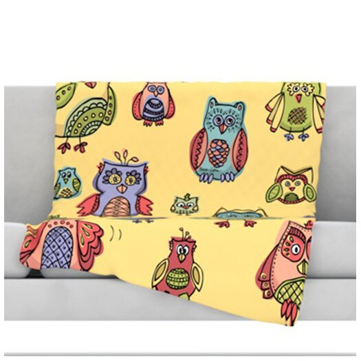 KESS InHouse Owls Throw Blanket