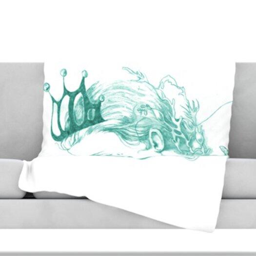 KESS InHouse Queen of The Sea Fleece Throw Blanket