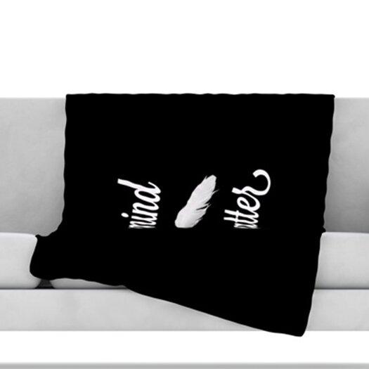 KESS InHouse Mind Over Matter Fleece Throw Blanket