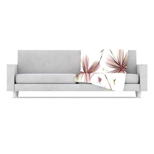 KESS InHouse Flower Throw Blanket