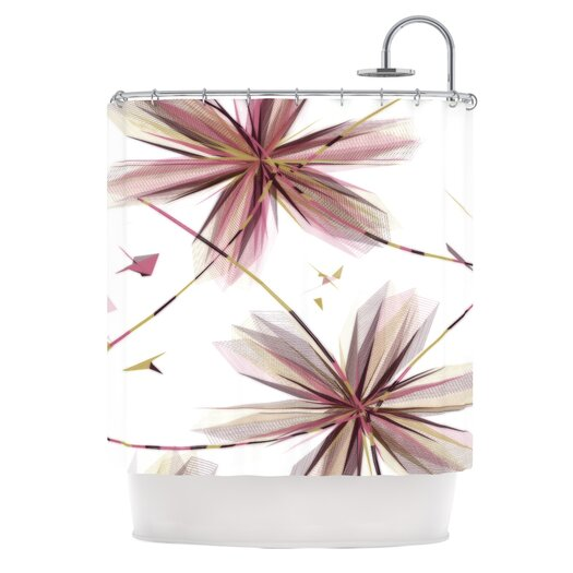 KESS InHouse Flower Shower Curtain