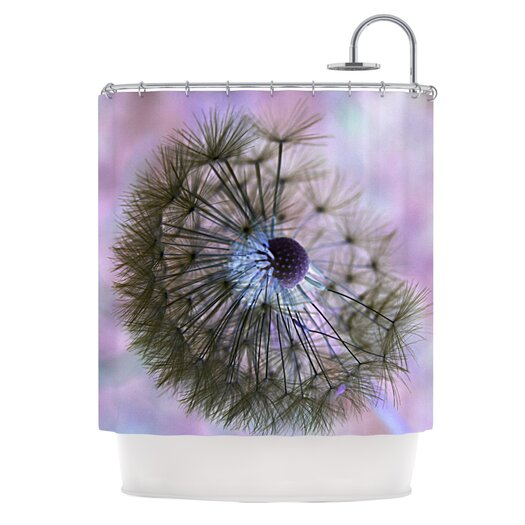 dandelion clock shower curtain allmodern