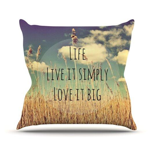 KESS InHouse Life Throw Pillow