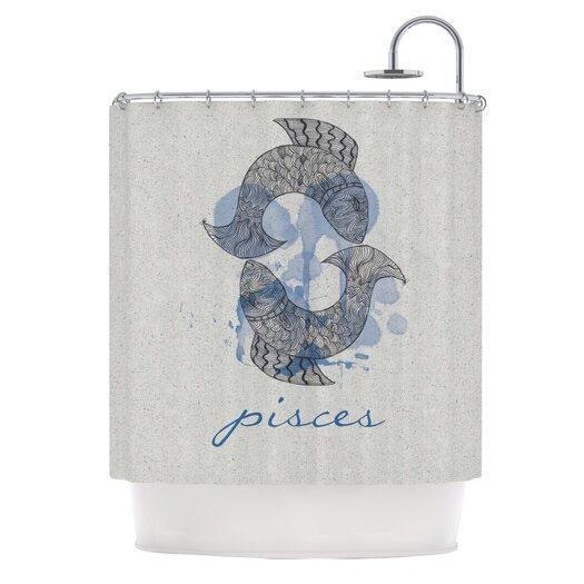 KESS InHouse Pisces Shower Curtain