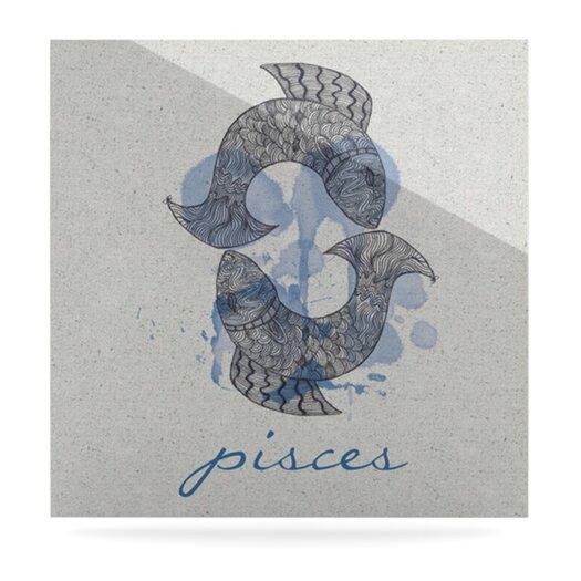 KESS InHouse Pisces by Belinda Gillies Graphic Art Plaque