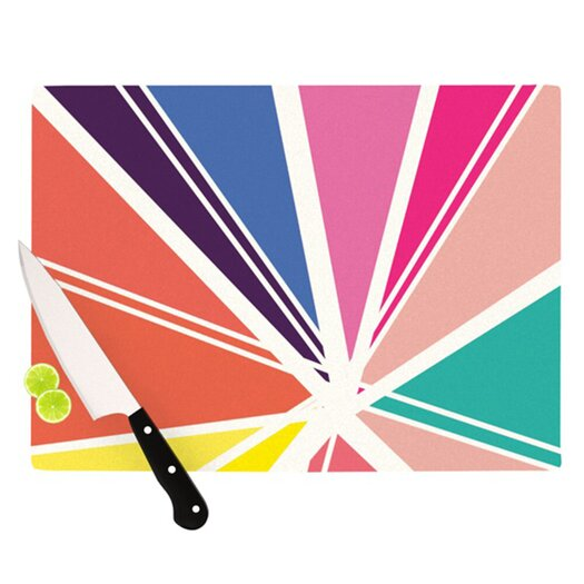 KESS InHouse Boldly Bright Cutting Board
