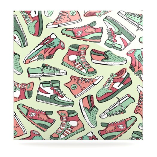 KESS InHouse Sneaker Lover II by Brienne Jepkema Graphic Art Plaque