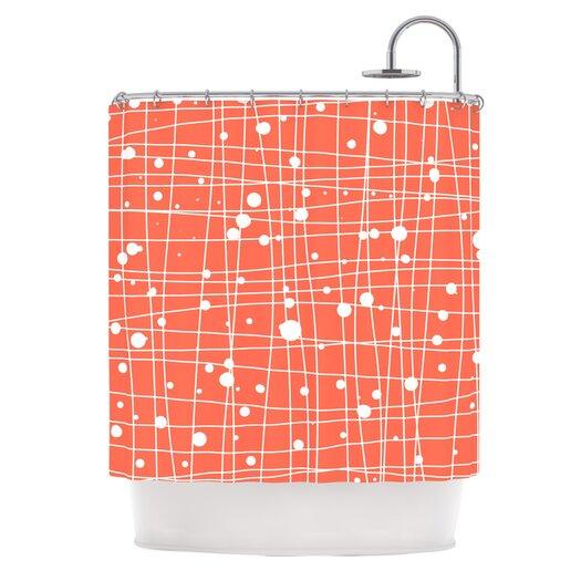 KESS InHouse Woven Web I Shower Curtain