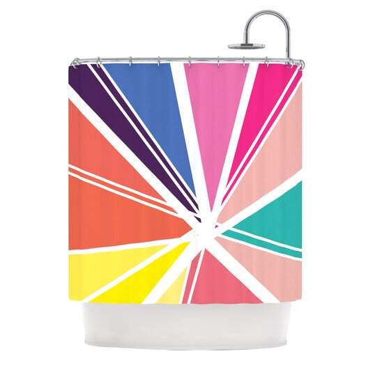 KESS InHouse Boldly Bright Shower Curtain