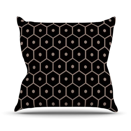 KESS InHouse Tiled Mono Throw Pillow