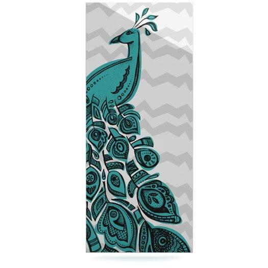 KESS InHouse Peacock by Brienne Jepkema Graphic Art Plaque