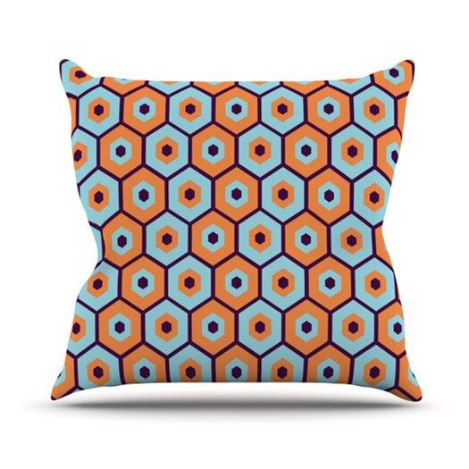 KESS InHouse Busy Throw Pillow