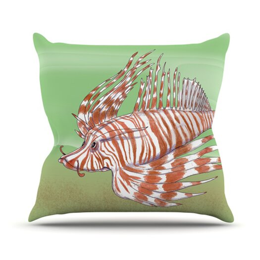 KESS InHouse Fish Manchu Throw Pillow