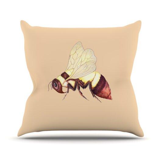 KESS InHouse Be Happy Throw Pillow