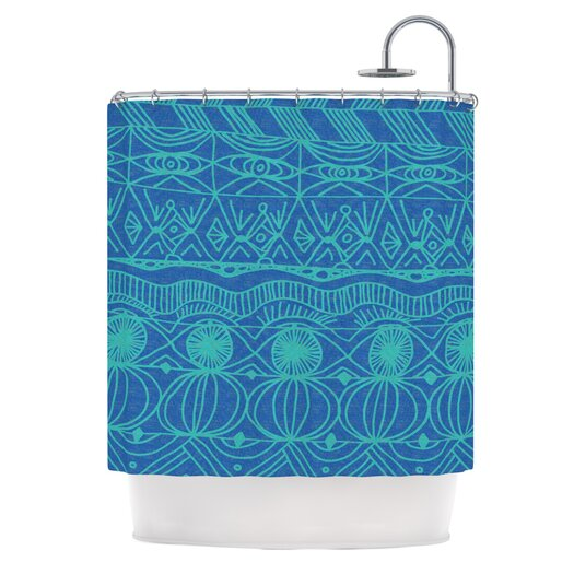 KESS InHouse Beach Blanket Confusion Shower Curtain