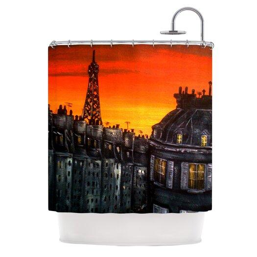 KESS InHouse Paris Shower Curtain