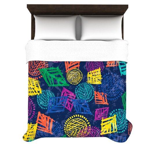 KESS InHouse African Beat by Emine Ortega Light Duvet Cover