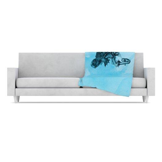 KESS InHouse Turtle Tuba III Throw Blanket