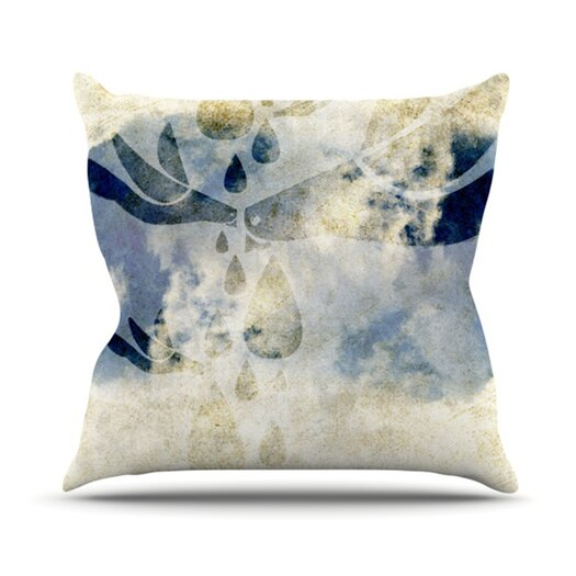 KESS InHouse Doves Cry Throw Pillow