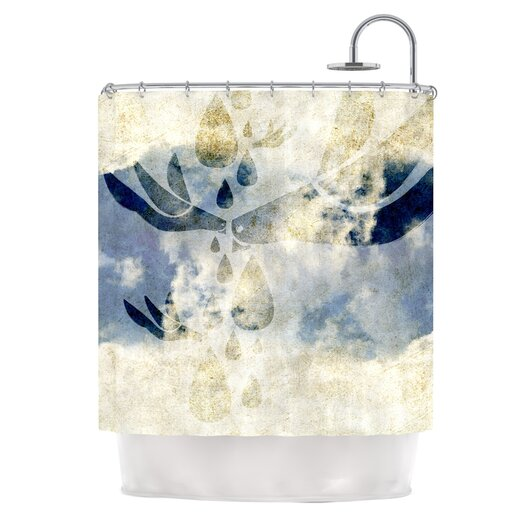 KESS InHouse Doves Cry Shower Curtain
