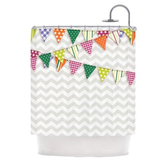 KESS InHouse Flags 1 Shower Curtain