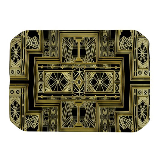KESS InHouse Golden Art Deco Placemat