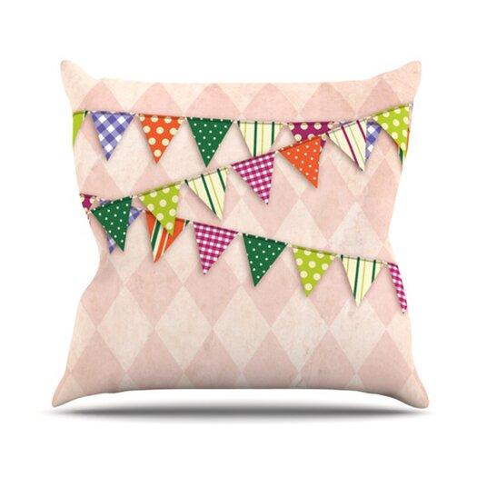 KESS InHouse Flags 2 Throw Pillow