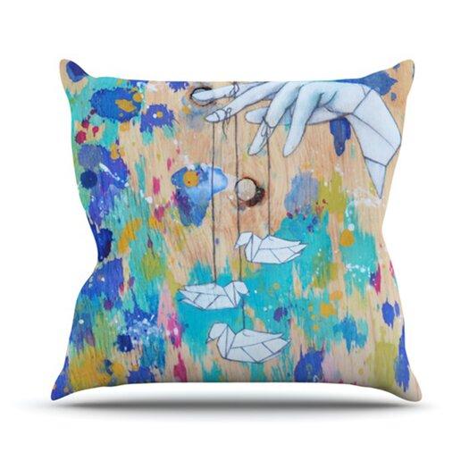 KESS InHouse Origami Strings Throw Pillow