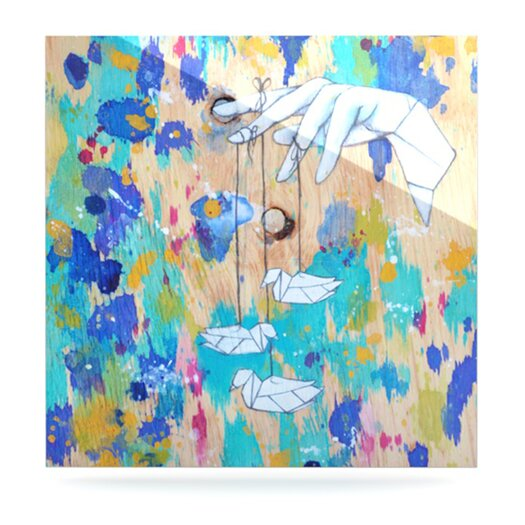 KESS InHouse Origami Strings by Kira Crees Painting Print Plaque