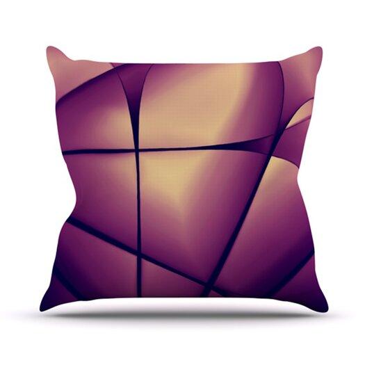 KESS InHouse Paper Heart Throw Pillow