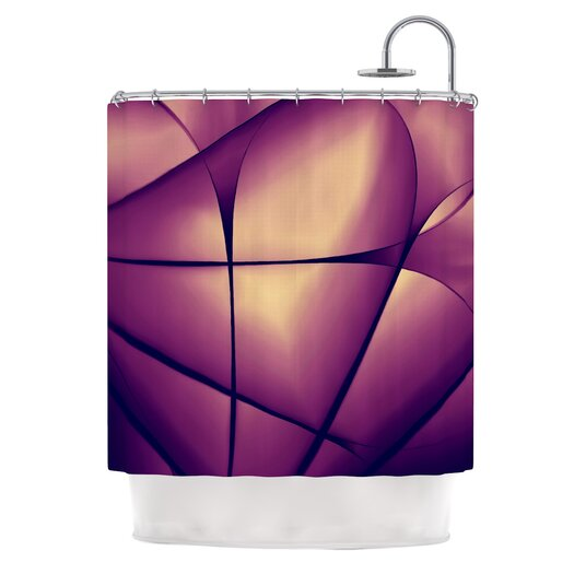 KESS InHouse Paper Heart Shower Curtain