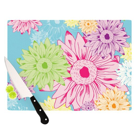 KESS InHouse Summer Time Cutting Board