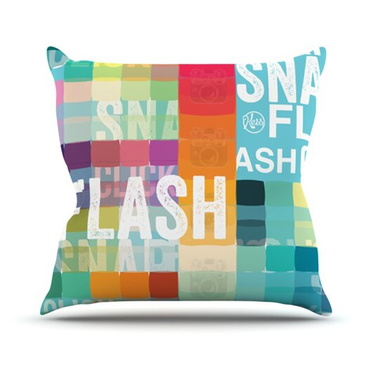 KESS InHouse Flash Throw Pillow