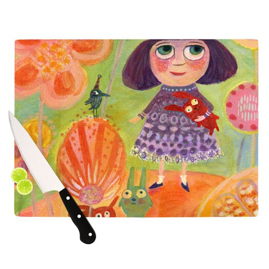 KESS InHouse Flowerland Cutting Board